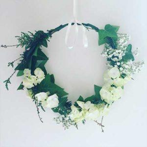 Atelier couronne de fleurs à Nantes