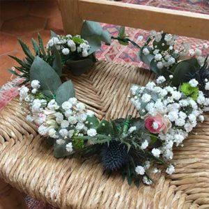 Atelier couronne de fleurs à Rennes