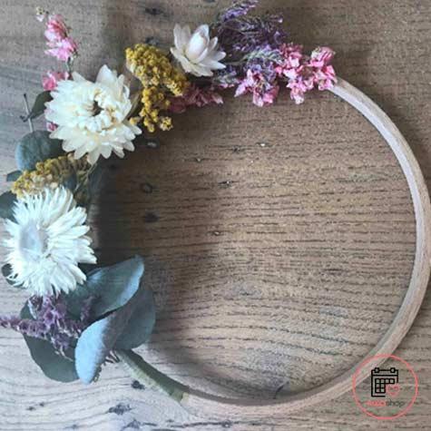 Atelier couronne de fleurs séchées à Lille