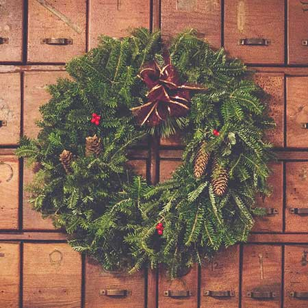 Atelier couronne de Noël