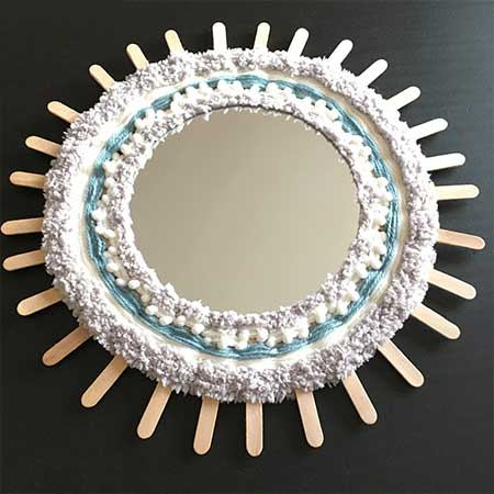 Atelier DIY miroir tissé