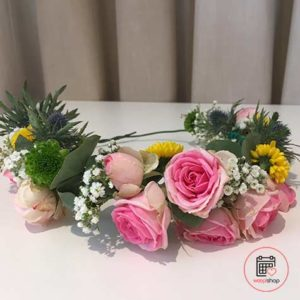 Atelier couronne de fleurs à Brest (groupe)
