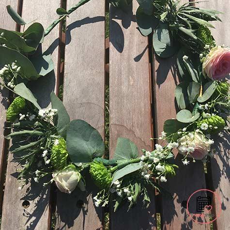 Atelier couronne de fleurs à Tours