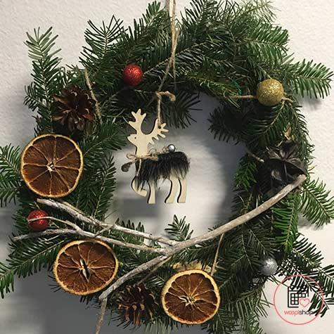 Atelier couronne de Noël à Fougères