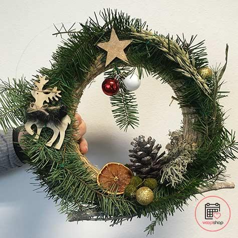 Atelier couronne de Noël à Vannes