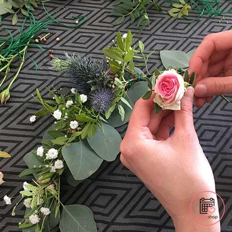 Atelier couronne de fleurs à Cesson-Sévigné