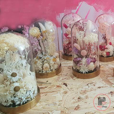 Atelier fleurs séchées sous cloche à Lille