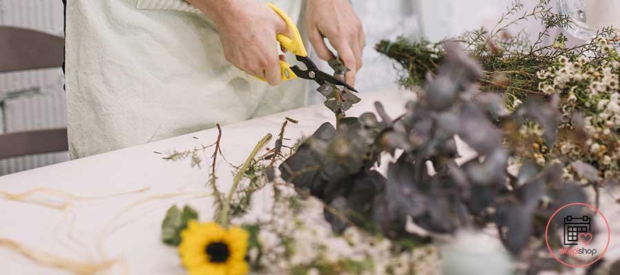 Atelier Couronne de fleurs à Pornichet pour un enterrement de vie de jeune fille