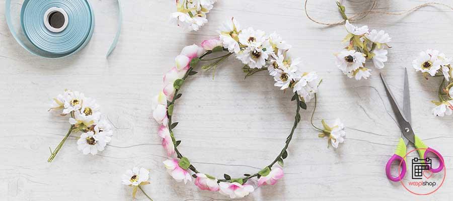 Atelier Couronne de fleurs à Quillan pour un enterrement de vie de jeune fille