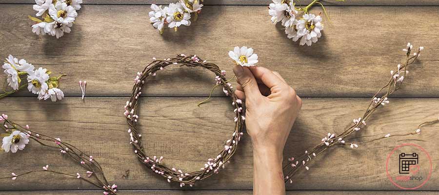 Atelier Couronne de fleurs à Pau pour un enterrement de vie de jeune fille