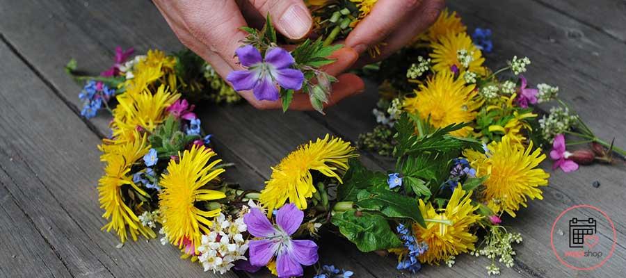 Atelier Couronne de fleurs à Vaucresson pour un enterrement de vie de jeune fille