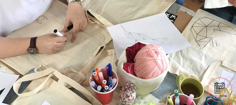Atelier tote bag EVJF Chambray lès Tours
